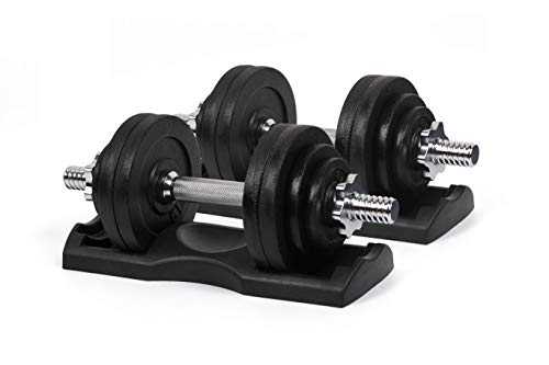 Ringstar Starring 105-200 Lbs adjustable dumbbells (65LBS Black with Trays)