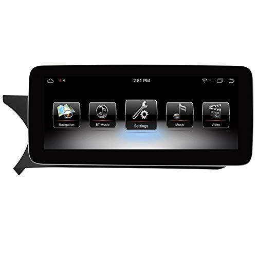 FWZJ Pantalla táctil de navegación para automóvil Android 9.0 de 10.25'para Mercedes Benz C CLK Class W204 S204 2011 2012, 4GB RAM Pantalla capacitiva de Alta resolución GPS Navegación para Auto