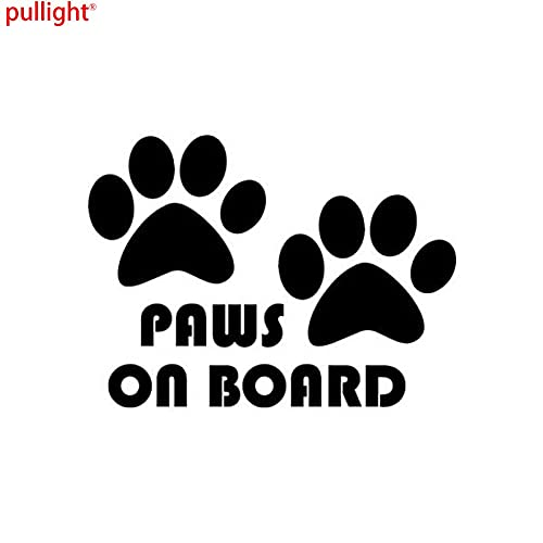 A/X Creative Fashion Car Stickers Cute Cartoon Dog Paw ON Board To Remind The Car Tail Stickers