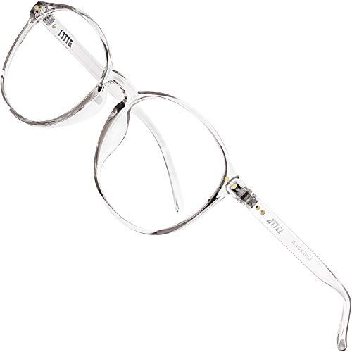 ATTCL Unisex blaulichtfilter brille computerbrille zum Blockieren von UV-Kopfschmerz [Verringerung der Augenbelastung] Gaming Brille (Transparent white 1133)