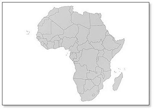 Kühlschrankmagnet, Motiv: Afrika-Landkarte