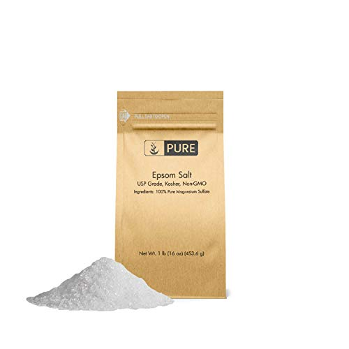 Epsom Salt (1 lb.) by Pure Organic Ingredients, Magnesium Sulfate Soaking Solution, All-Natural,...