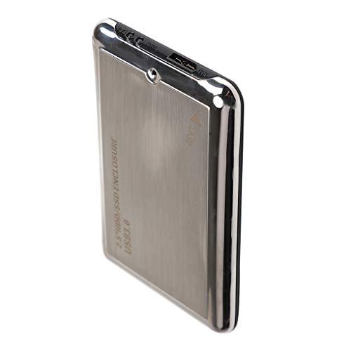 F Fityle Disco Duro Externo Portátil de 2.5 Pulgadas Ultra Delgado USB 3.0 HDD para Ordenador Portátil/Escritorio/Mac (40GB, Negro)