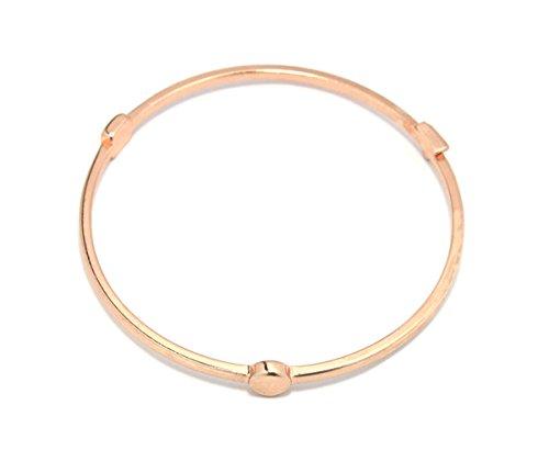 2LIVEfor Armreif modern Armreif Reifen Armband mit Dreieck Kreis Viereck Spitzen Armreif eckig geometrisch (Rosegold)