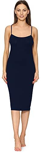 Merry Style Combinación Vestido Interior Mujer MS10-402 (Azul Marino, S)