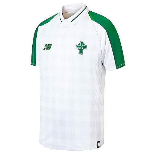 New Balance Youth Celtic Football Away Junior Jersey, White, XLB