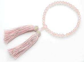 ローズクォーツ 紅水晶 7ミリ 共仕立て 片手念珠 数珠【アートコーラル】