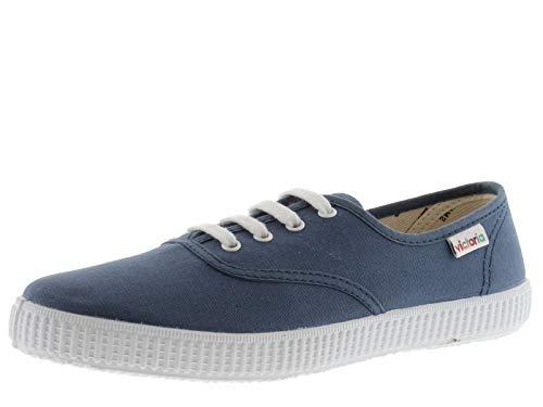 Victoria 106613-MEN 1915 Inglesa Tennis Toile Lacets Basses Mixte Adulte Jeans 45