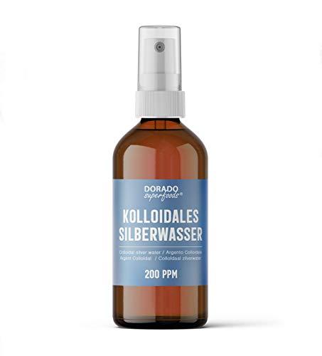 Dorado Superfoods ® kolloidales Silber Silberwasser | 200 ppm 100 ml | Spray in medizinischer Braunglasflasche