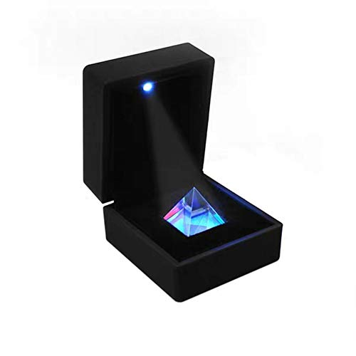 SosoJustgo2 Kristall Iridescent Pyramide Prisma mit Geschenk-Kasten Regenbogen-Farben Sparkle Kristall Home Office Ornaments Dekoration,22 * 22 * 22