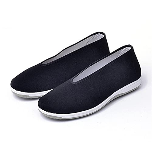 PDGJG Traditional Shoes Breathable Kung Fu Shoes Rubber Sole Martial Art Sneakers for Men Women (Size : 42code)