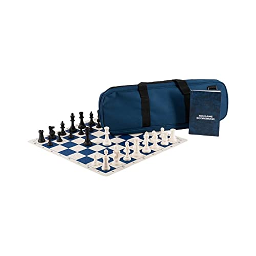 ZHONGTAI Juego de Ajedrez Chess International Staunton Expert Series Chess Mochila de alojamiento Book Checkerboard Pieza de ajedrez Juego de Mesa (Color : Blue)
