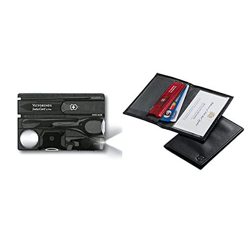 Victorinox Swisscard Lite, Color Negro Transparente, Led Blanco + 4.0873.L, Tarjetero Para Tarjeta De Crédito, Negro