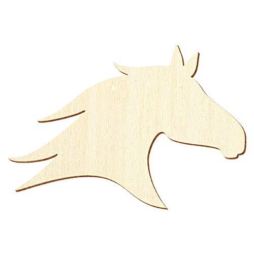 Holz Pferdekopf - Deko Basteln 3-50cm, Pack mit:1 Stück, Breite:49cm breit