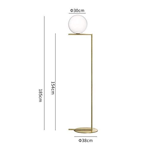 BAIJJ gloeilamp van glas, eenvoudig, modern, staande lamp, Scandinavisch design, voor slaapkamer, nachtkastje, woonkamer, vloerlamp, trompet Luo