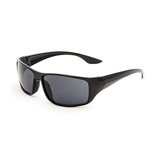 Nihlsfen Gafas de Sol Deportivas para Hombre 5380 Marco Amarillo Gafas de visión Nocturna Conductor Espejo de conducción Nocturna Durable Portátil