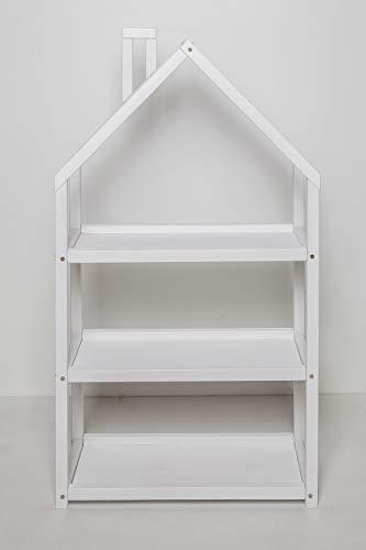 Estantería para habitación infantil, estantería Montessori. (Blanco)