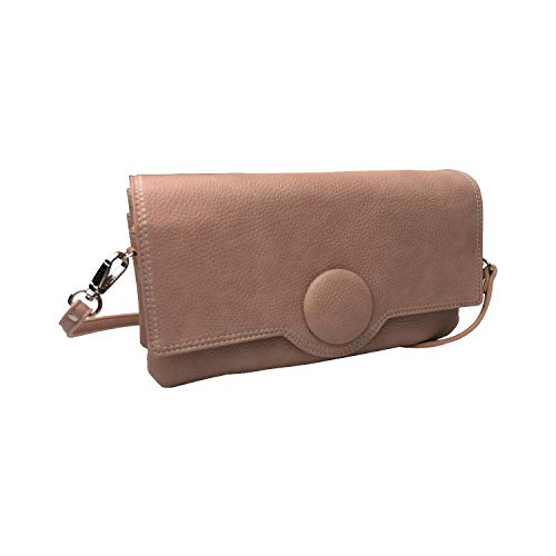 Pisoraro(ピソラロ) 3WAYくるみボタン ウォレットバッグ お財布ポシェット ピンク PR112 約w23×h12×d6cm