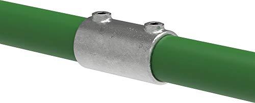 Fenau | Verlängerungs-Stück/Verbindungs-Stück, Außen-Rohrverbinder, Ø 26,9 mm, Temperguss galvanisiert, feuerverzinkt, inkl. Schrauben