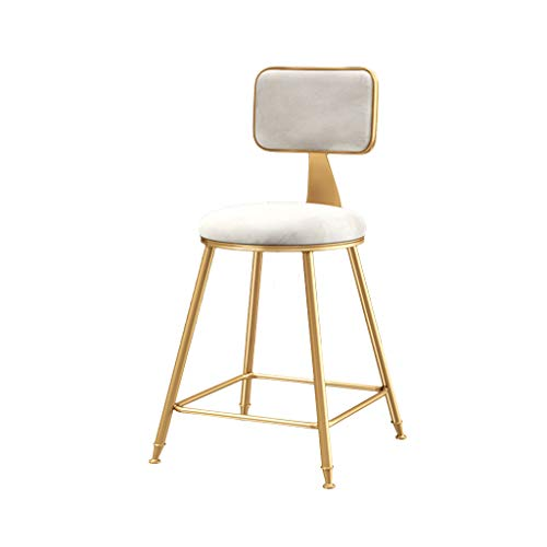 Chaise de Bar de Style Nordique, intérieur en Fer doré Art Tabouret de Bar Restaurant Café Chaise Longue Fauteuil Décoration Tabouret Haut Déesse Chaise de Maquillage,F