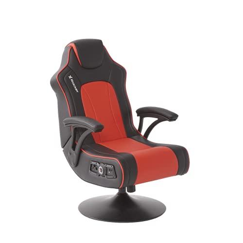 X Rocker Torque 2.1-Silla para Juegos, Color Negro y Rojo, Piel sintética, Universal