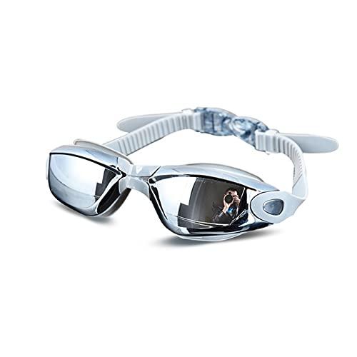 Srfghjs Gafas de natación para niños Gafas de natación de Silicona Profesional Anti-Niebla galvanoplastia UV Gafas de natación for Hombres Mujeres Buceo Agua Deportes (Color : Gray)