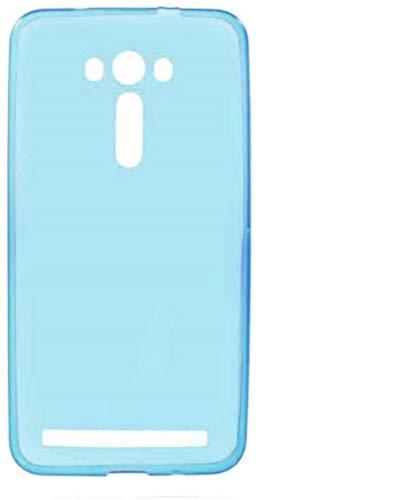 Compatible con Asus Zenfone 2 Laser ZE550KL ZE551KL 5.5 (Z00LD) Funda de gel suave silicona TPU + Protector de cristal templado antigolpes Protección 9H (turquesa)