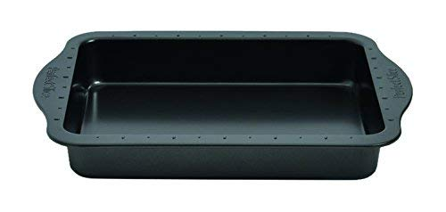 Berghoff Rechteckige Pfanne mit Kuchenteiler, Stahl, dunkelgrau, 0 cm