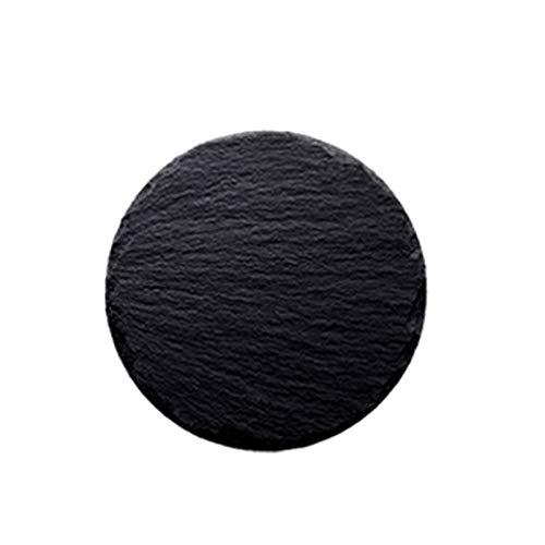PETAAA Black Round Slate Essteller,...