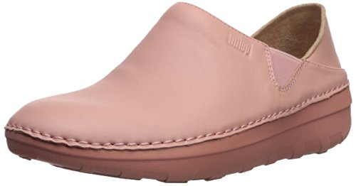 FitFlop Women's SUPERLOAFER Medical Professional Shoe, Dusky Pink, 11 M US
