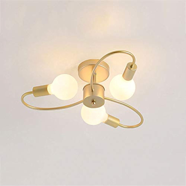 LCTCXD Eisen Kreative Blaume Lampe Indoor 3 6 8 Licht Anhnger Kronleuchter Unterputz Büro Wohnzimmer Schlafzimmer (21 Watt   42 Watt   56 Watt) (gre   3 Kpfe)