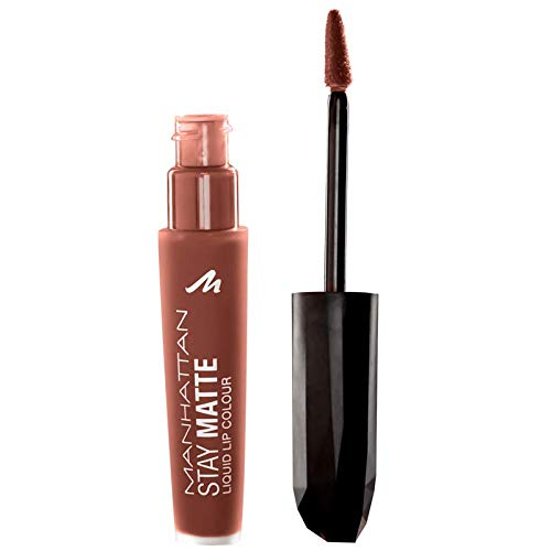 Manhattan Nude Stay Matte Liquid Lip Colour, Farbe 130 Amber State Building 3er Pack (3 x 6 ml)