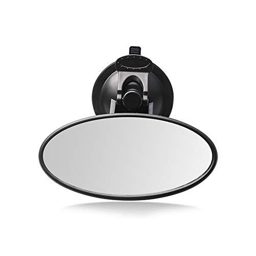 KKmoon Baby autospiegel achteruitkijkspiegel groothoek zuignap spiegel onbreekbaar achteruitkijkspiegel 360 ° draaibare veiligheidsautostoel spiegel Ellipse