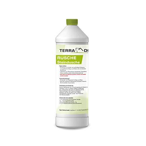 Terra Domi Rusche Steindusche, 1 L, Steinreiniger für bis zu 400 m², Reinigungsmittel für saubere Wege & Plätze, Wegerein, biologisch abbaubar