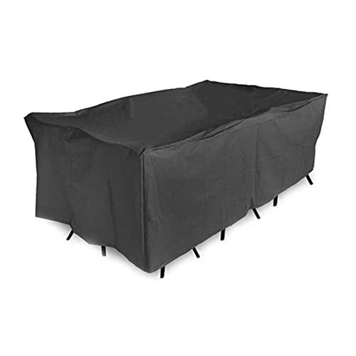 Cubiertas para muebles de exterior Cubierta de muebles de patio al aire libre impermeable a prueba de viento UV resistente al polvo cordón Oxford Sofá Sofá Bancos Sillas Cubierta para jardín Césped
