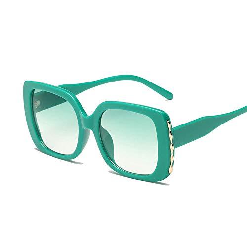 OcchialidaSole Occhiali da Sole Quadrati Donna Donna Occhiali da Sole A Specchio Occhiali da Sole Vintage Occhiali da Donna-Verde