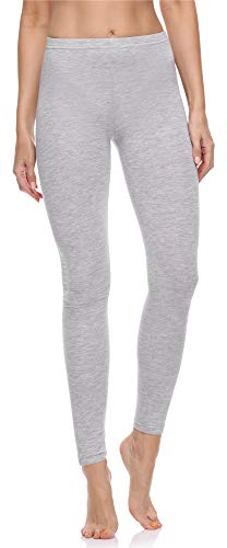 Merry Style Damen Lange Leggings aus Baumwolle MS10-198 (Melange, XL)