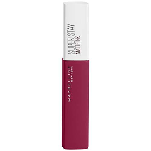 Maybelline New York Tinta Labbra SuperStay Matte Ink, Rossetto Matte Liquido a Lunga Tenuta, Front (145), 5 ml