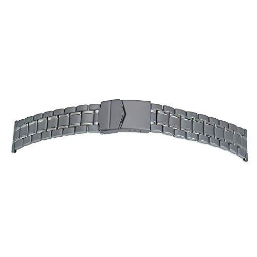 Rowi Fixoflex - Correa de reloj de 22 mm, de titanio adaptable de 20 a 22 mm, fabricada en Alemania