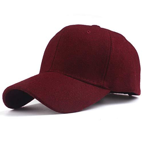 Baseball Kappe Hut Solide Herren Wolle Baseballmütze Wintermütze Warm Bone Snapback Hut Gorras Fitted Hüte für Frauen