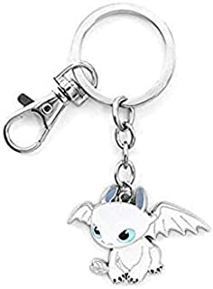 Keychain How to Train Your Dragon Light Fury zinc Alloy Keychain Necklace Lovely Toothless Night Fury Pendant Keyring Toys (Keychain)