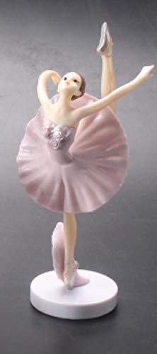 Amuuuz Bailarina Bailarina Estatua decoración Bailarina decoración del hogar Ballet Girl Dancing Ornament Decoración de la Boda Miniatura Craft Mini Garden Fairy Decoration