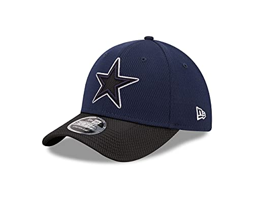 New Era Dallas Cowboys NFL 2021 Sideline Road Navy 9Forty Stretch Snap Cap - One-Size