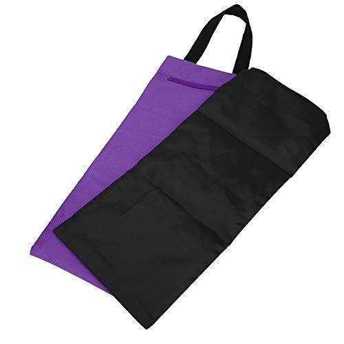 Saco de Arena de Yoga KEENSO, Saco de Arena de Entrenamiento, 2 Piezas 41x18cm Bolsa de Arena de Peso Libre sin Relleno, Accesorio de Brazo Delgado para Entrenamiento de Yoga(Púrpura)