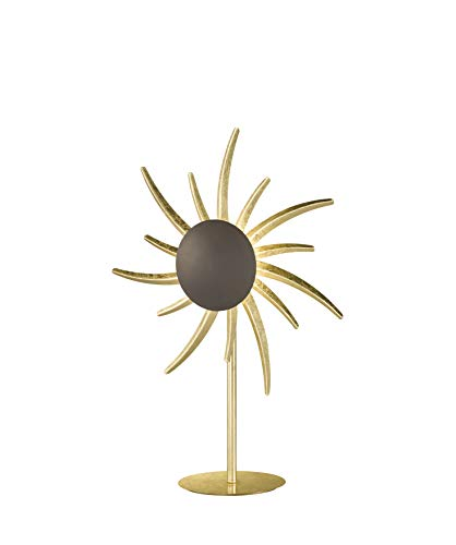 Fischer&Honsel Keno tafellamp, metaal, 11 W, goudkleurig
