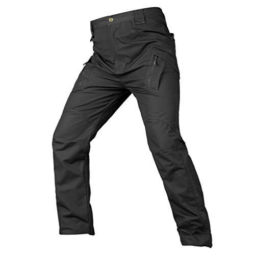 Xinwcanga Elástico De Los Hombres Combate Pantalones Ropa De Trabajo Paintball de Ejército Militar Camuflaje Combat BDU Pantalón (Negro#1, 4XL)