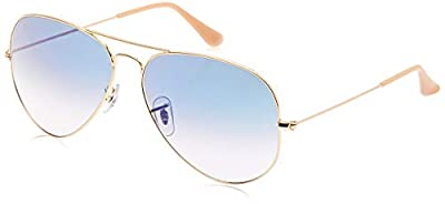 Ray-Ban RB3025 Aviator Sunglasses, Gold/Blue Gradient, 55 mm