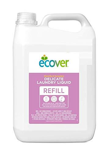 Ecover Feinwaschmittel Wolle & Feines (5 L/110 Waschladungen), Flüssigwaschmittel mit pflanzenbasierten Inhaltsstoffen, Ecover Waschmittel für empfindliche Textilien