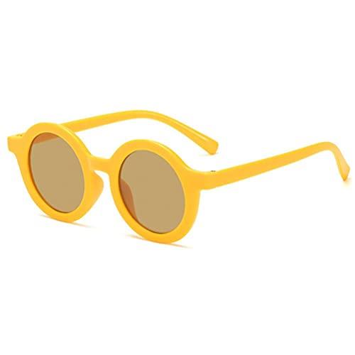 WBTY 2021 moda niños deslumbrantes gafas de sol lindo bebé color sólido a prueba de rayos ultravioleta redondo gafas gafas para playa natación niños al aire libre viaje