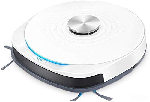 Lowest Prices! CUUYQ Smart Sweeping Robot, Super-Strong Suction Robot Vacuum Cleaner Ultra Slim Quiet Smart Anti Fall Sensor Multiple Cleaning Modes,White
